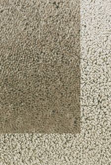 Bild: Frisee Teppich mit Schlingenbordüre Twinset Skyline (Khaki; 250 x 350 cm)