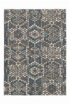 Bild: Schurwollteppich Dart Mexico (Grau; 140 x 200 cm)