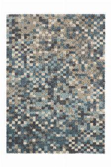 Bild: Schurwollteppich Dart Fade (Grau; 140 x 200 cm)