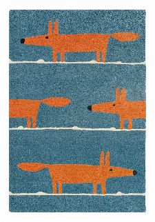 Bild: Teppich Mr Fox (Denim; 90 x 150 cm)