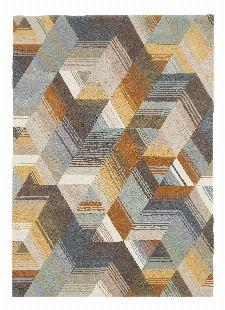 Bild: Harlequin Kurzflorteppich Arccos 40206 (Ochre; 140 x 200 cm)