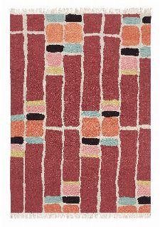 Bild: Brink&Campman Teppich Kashba stack (Rot; 140 x 200 cm)