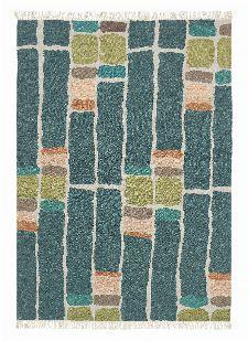Bild: Brink&Campman Teppich Kashba stack (Blaugrün; 140 x 200 cm)