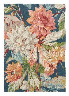 Bild: Sanderson Teppich Dahlia&Roseship 50608 (Teal; wishsize)