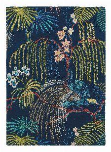 Bild: Sanderson Teppich Rain Forest 50708 (Tropical Night; 170 x 240 cm)
