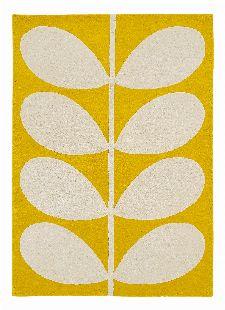 Bild: Orlay Kiely Designerteppich Yellow Stem (Gelb; 160 x 230 cm)
