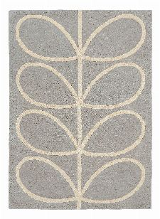 Bild: Orlay Kiely Designerteppich Giant Linear Stem (Grau; 120 x 180 cm)