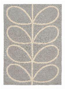 Bild: Orlay Kiely Designerteppich Giant Linear Stem (Grau; wishsize)