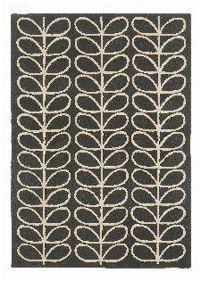 Bild: Orla Kiely Designerteppich Linear Stem Slate (Grau; 200 x 280 cm)
