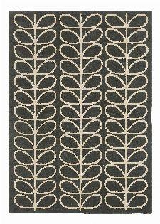 Bild: Orla Kiely Designerteppich Linear Stem Slate (Grau; wishsize)