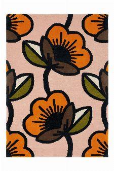 Bild: Orla Kiely Designerteppich Passion Flower Pink (Pink; wishsize)