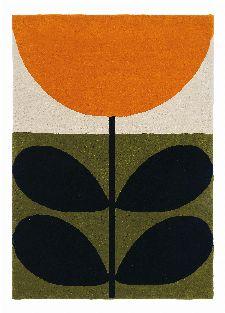 Bild: Orla Kiely Designerteppich Stem Black (Grün; 120 x 180 cm)