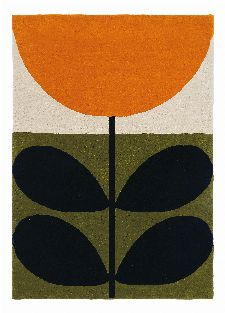 Bild: Orla Kiely Designerteppich Stem Black (Grün; 250 x 350 cm)