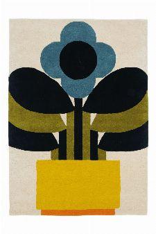 Bild: Orla Kiely Designerteppich Plant Plot (Bunt; 200 x 280 cm)