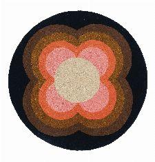 Bild: Orla Kiely Designerteppich Sunflower Pink (Pink; 200 x 200 cm)
