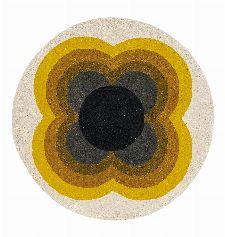 Bild: Orla Kiely Designerteppich Sunflower Pink (Yellow; 150 x 150 cm)