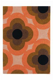Bild: Orla Kiely Designerteppich Pulse Pink (Pink; 160 x 230 cm)