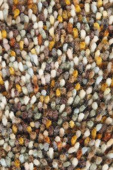 Bild: Schurwollteppich Pop art (Braun/Orange; wishsize)