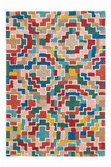 Bild: Schurwollteppich Estella Tetris (Bunt; 140 x 200 cm)