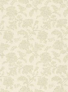 Bild: Blumenornament Tapete 4515 (Gold/Beige)