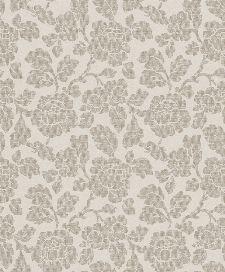 Bild: Florale Tapete Stoffoptik 4524 (Grau)