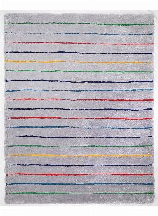 Bild: Teppich Soft - Hidden Stripes (Grau Multi; 200 x 140 cm)