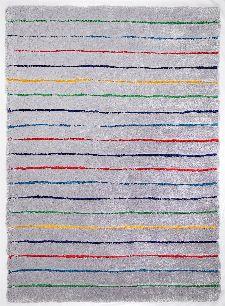 Bild: Teppich Soft - Hidden Stripes - Grau Multi