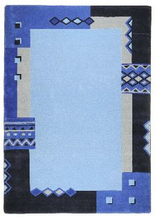 Bild: Schurwollteppich Florida (Blau; 120 x 180 cm)