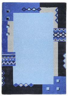 Bild: Schurwollteppich Florida (Blau; 150 x 150 cm)