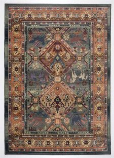 Bild: Teppich Gabiro 13 (Grün; 235 x 68 cm)