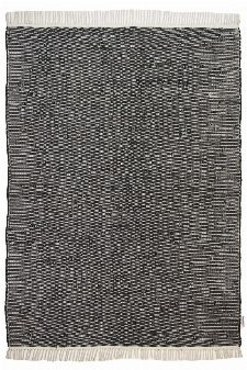 Bild: Flickenteppich - Cotton Color (Schwarz; 60 x 120 cm)