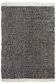 Bild: Flickenteppich - Cotton Color (Schwarz; 140 x 200 cm)