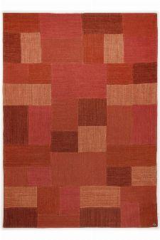 Bild: Teppich Smooth Comfort - Patch Denim - Rot