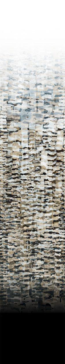 Bild: Marburg Fototapete Silk Road 46533 Aquarelldesign (Schwarz)