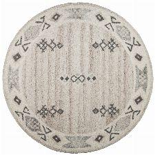 Bild: Royal Berber Teppich Bordüre - meliert - 150cm Rund - Beige
