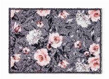 Bild: ASTRA Schmutzfangmatte - Pure und Soft Blumen (Grau/Rosa; 70 x 50 cm)