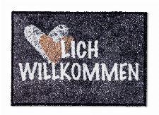 Bild: ASTRA Schmutzfangmatte - Pure und Soft Herzlich (Anthrazit; 70 x 50 cm)