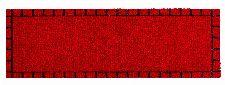 Bild: ASTRA Schmutzfangmatte - Miabella Kästchenbordüre (Rot; 70 x 50 cm)