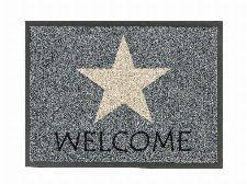 Bild: ASTRA Schmutzfangmatte - Homelike Stern welcome (Grau; 60 x 40 cm)