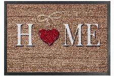 Bild: ASTRA Schmutzfangmatte - Homelike Holz Herz Home (Beige)