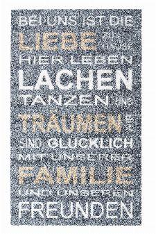 Bild: ASTRA Schmutzfangmatte - Felicido Spruch (Grau/Beige)