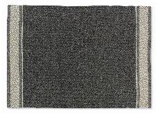 Bild: SCHÖNER WOHNEN Flachgewebeteppich - Botana Blockstreifen (Dunkelgrau/Beige; 200 x 140 cm)