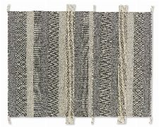 Bild: SCHÖNER WOHNEN Flachgewebeteppich - Botana Streifen - Beige/Grau