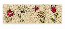 Bild: ASTRA Kokosmatte - Coco Style Blumen (75 x 25 cm)