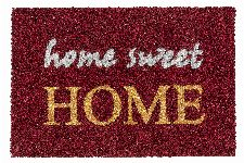 Bild: ASTRA Kokosmatte - Coco Glitter Home Sweet Home (Rot)