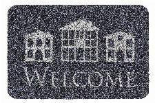 Bild: ASTRA Türmatte - Basic Welcome Häuser (Grau)