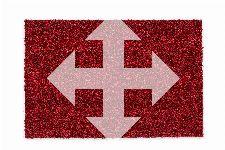 Bild: ASTRA Kokosmatte Kokosvelours Colors - individuelles Wunschmaß (Rot; wishsize)