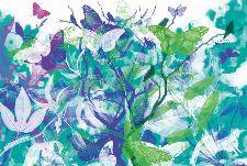 Bild: AP Digital - Butterfly Garden - 150g Vlies (2 x 1.33 m)